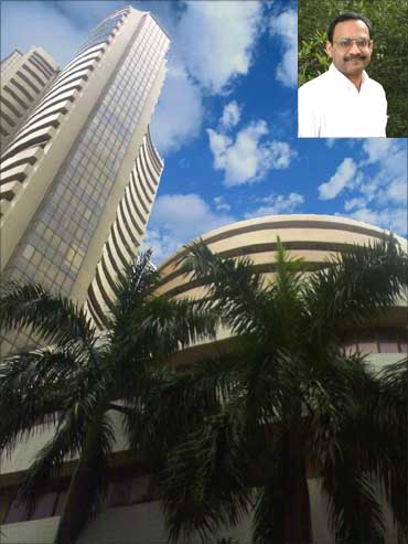 The Bombay Stock Exchange. Inset: Alok Aggarwal.