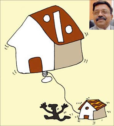 (Inset) LIC Housing Finance CEO R R Nair.