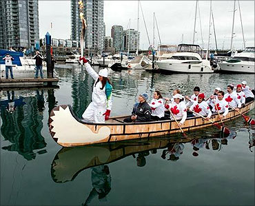 The Olympic Torch in Vancouver.