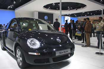 Curves are back with the New Beetle.