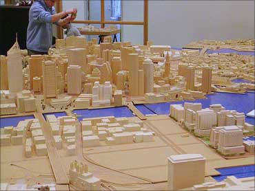 Models of a city are being readied.