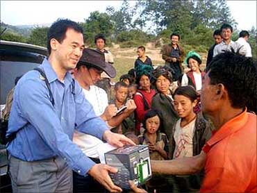 Distribution in rural China.