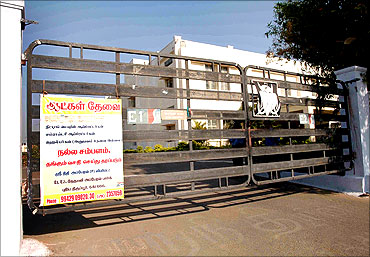 Another 'Men Wanted' sign outside a factory in Tirupur.