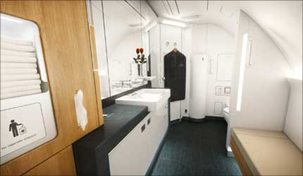The First Class rest room.