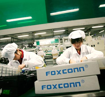 Foxconn workers.
