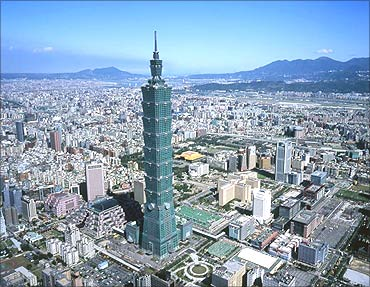 Taipei 101, world's tallest tower.