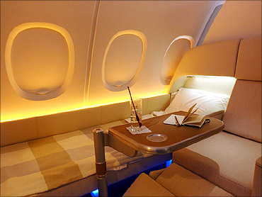 Interior view of the A380.