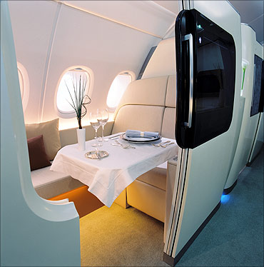 A cabin onboard the A380.