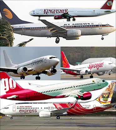 The top 10 airlines in India - Rediff.com Business