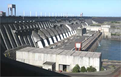 Itaipu Hydroelectric dam, the world's largest operational electricity generator in Brazil.