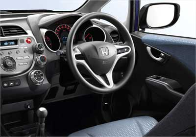 Interior view of Honda Jazz.