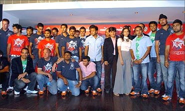 Deccan Chargers team.