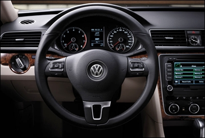 Steering the Passat.