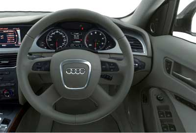 Interior view of Audi A4.