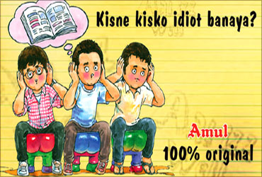 Advertisement based on Bollywood film.