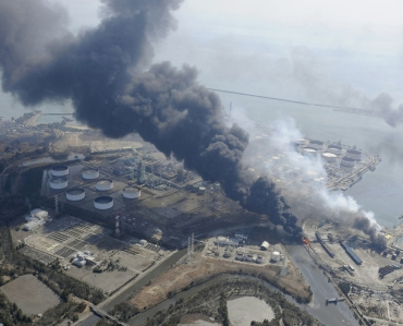 A part of nuclear plant on fire in Japan.