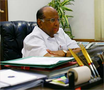 Sharad Pawar speaks during an interview.