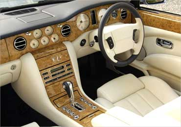 Bentley Azure interior.
