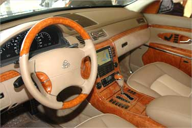Dashboard of Maybach 62.