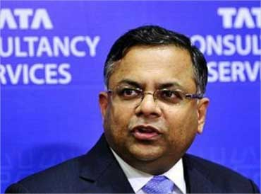 TCS's Natarajan Chadrasekaran was named among the best CEOs in India.