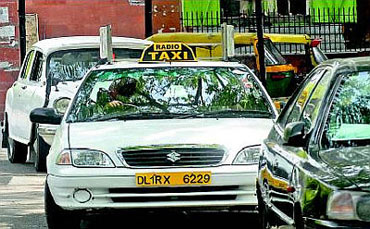 Taxis in New Delhi run on CNG.