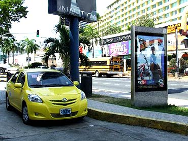 Panama City has one of the cheapest taxis.