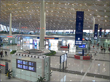 Terminal 3 with Duty-Free shops.