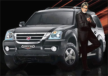 Amitabh Bacchan at the launch of Force One.