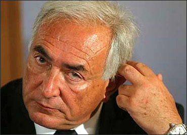 Strauss-Kahn in a New York courthouse.