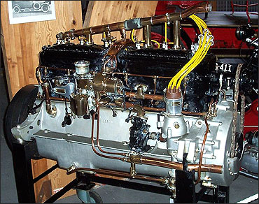 Rolls-Royce 40/50hp Silver Ghost 7,400cc side valve six cylinder engine.
