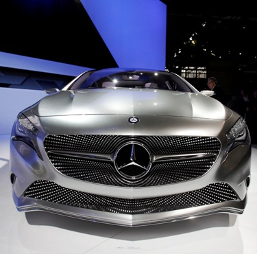 Mercedes-Benz A Class concept car on display at New York International Auto Show.