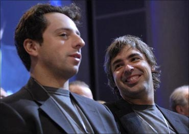Sergey Brin and Larry Page, Google founders.