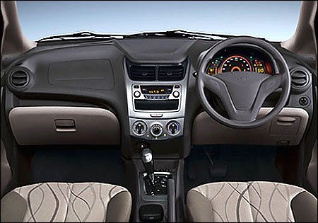 Chevrolet Sail dashboard.