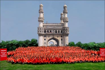 Hilti employees in Hyderabad.
