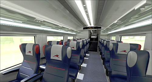 italy shows off its new high-speed train