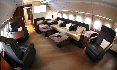 VIP cabin of a new Airbus A318.