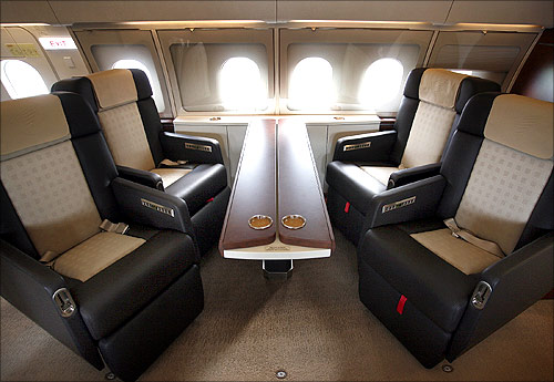 VIP cabin of a new Airbus A318 Elite.