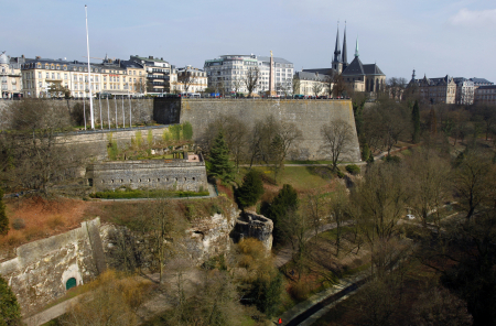 View of the city of Luxembourg.