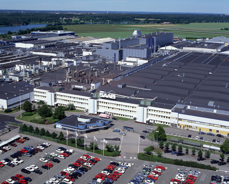 Saab's main production facilities in Trollhattan, Sweden.