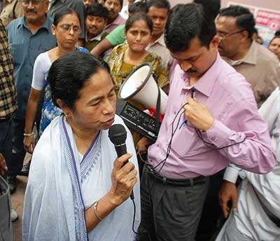 West Bengal Chief Minister Mamata Banerjee at AMRI Hospital.