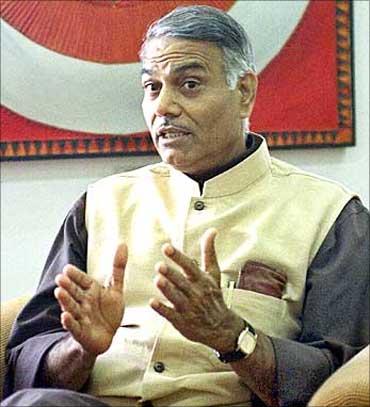 Yashwant, BJP flay Rail Budget