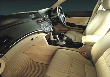 Interior view of Honda Accord.