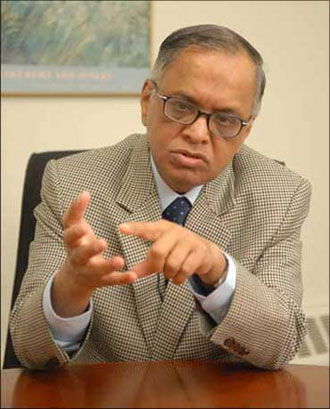 N R Narayana Murthy, chief mentor of Infosys Technologies Ltd.