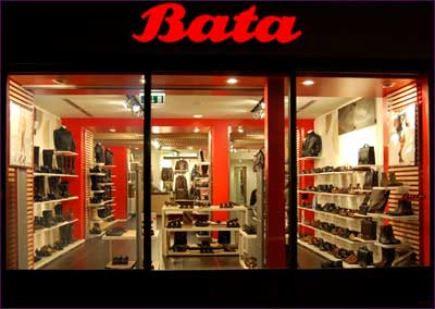 A Bata showroom.