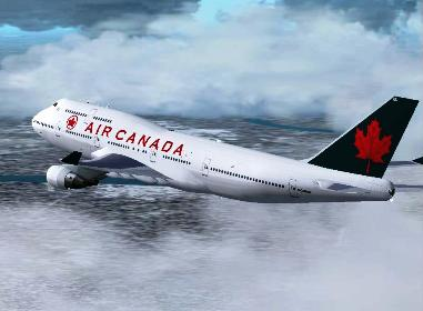 An Air Canada aircraft.