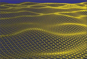 Graphene being produced.