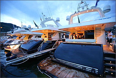 Yachts from the Riva group.