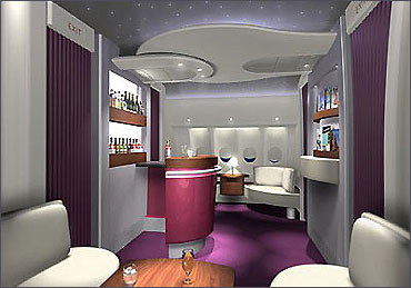 The 1st class bar.