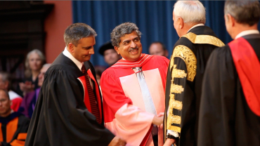 Degree was conferred on him at the Rotman School of Business.