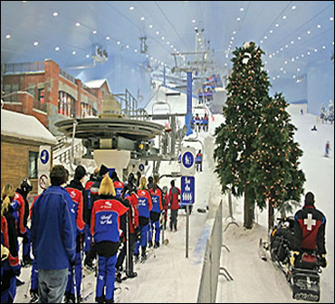 Largest indoor ski area.